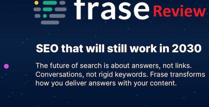 Frase.io - Honest Frase Review